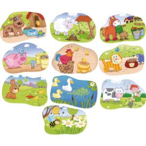 Детски пъзел Haba - Хранене на животните - пъзели