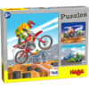 Детски пъзел Haba- Моторспорт - кутия