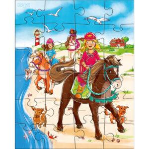 Детски пъзел Haba - Принцеси и коне - 1