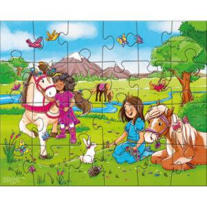 Детски пъзел Haba - Принцеси и коне - 3