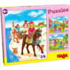 Детски пъзел Haba - Принцеси и коне - кутия