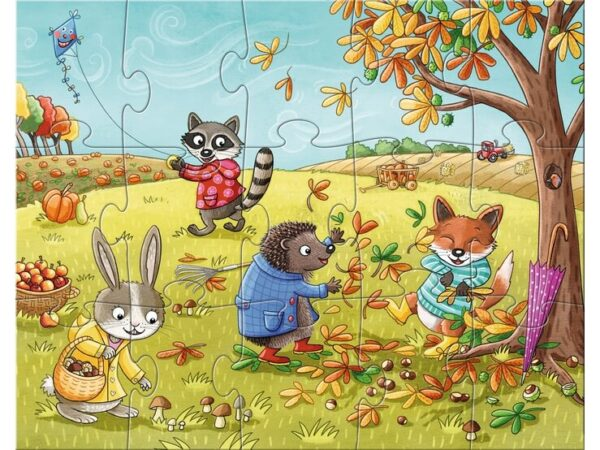 Детски пъзел Haba - Сезони - есен