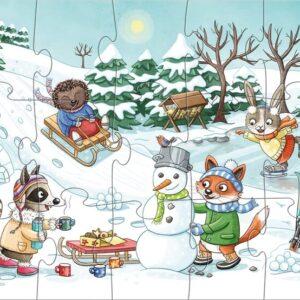 Детски пъзел Haba - Сезони - зима