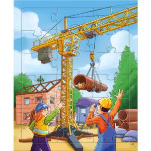 Детски пъзел Haba - Строителни обекти - 1