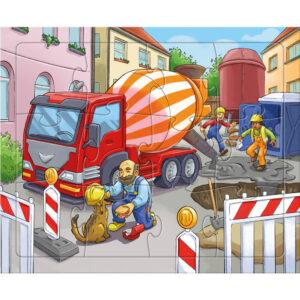 Детски пъзел Haba - Строителни обекти - 2