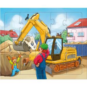 Детски пъзел Haba - Строителни обекти - 3