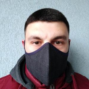Черна текстилена маска