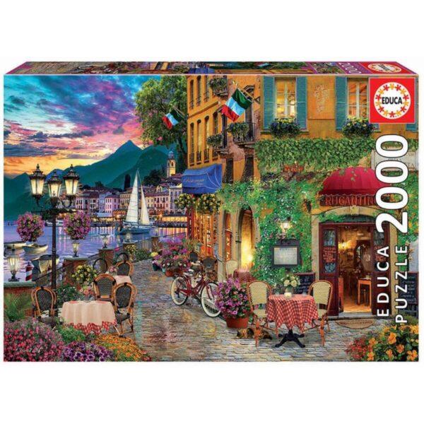 Пъзел Educa - Красота в Италия - 2000 части - кутия