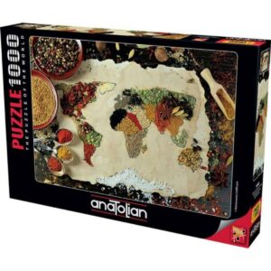 Anatolian- Билкова карта на света - 1000 части - кутия