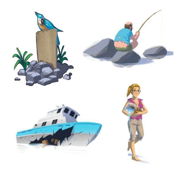 Гибелапагос - парти настолна игра - компоненти