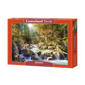 Castorland - пъзел 2000 части - Горски поток - кутия