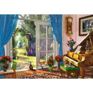 Castorland - Гледка към градината - 1000 части - картина