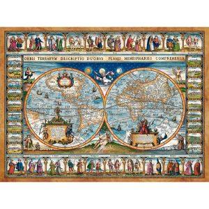 Castorland - Карта на света от 1639г - 2000 части - картина