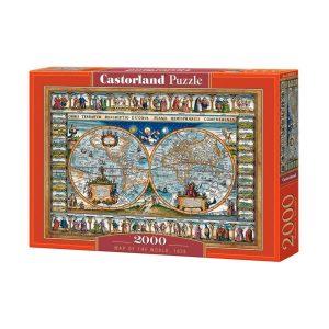 Castorland - Карта на света от 1639г - 2000 части - кутия