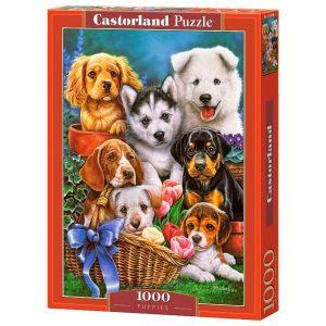 Castorland - Кученца - 1000 части - кутия