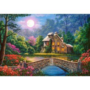 Castorland - Къщичка в лунната градина- 1000 части - картина