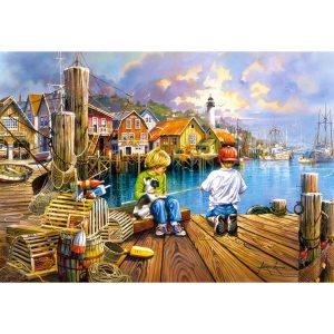 Castorland - На пристанището- 1000 части - картина