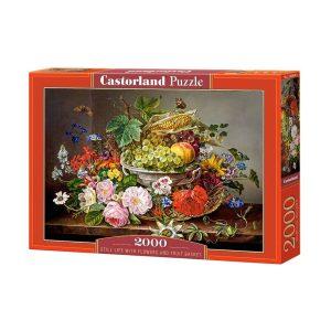 Castorland - Натюрморт с цветя и плодове - 2000 части - кутия