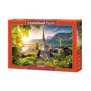 Castorland - Пощенска картичка от Халщат - 1000 части - кутия