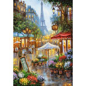 Castorland - Пролетни цветя, Париж - 1000 части - картина