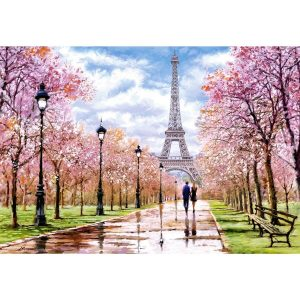 Castorland - Романтична разходка в Париж - 1000 части - картина