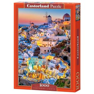 Castorland - Светлините на Санторини - 1000 части - кутия