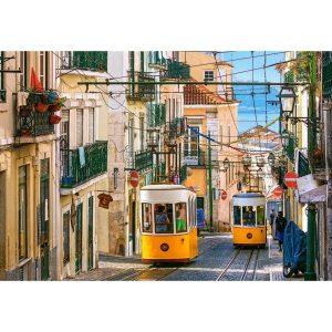 Castorland - Трамваи в Лисабон, Португалия - 1000 части - картина