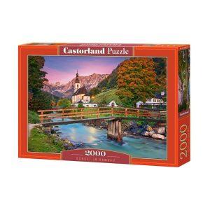 Castorland - Залез в Рамзау - 2000 части - кутия