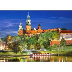 Castorland - Замъкът Вавел през нощта, Полша - 1000 части - картина