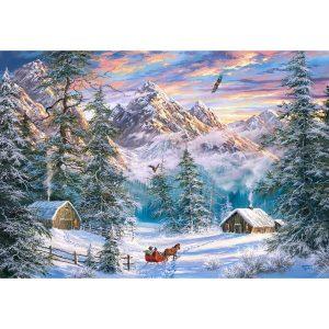 Castorland - Коледа в планината - 1000 части - картина