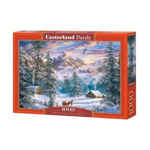 Castorland - Коледа в планината - 1000 части - кутия