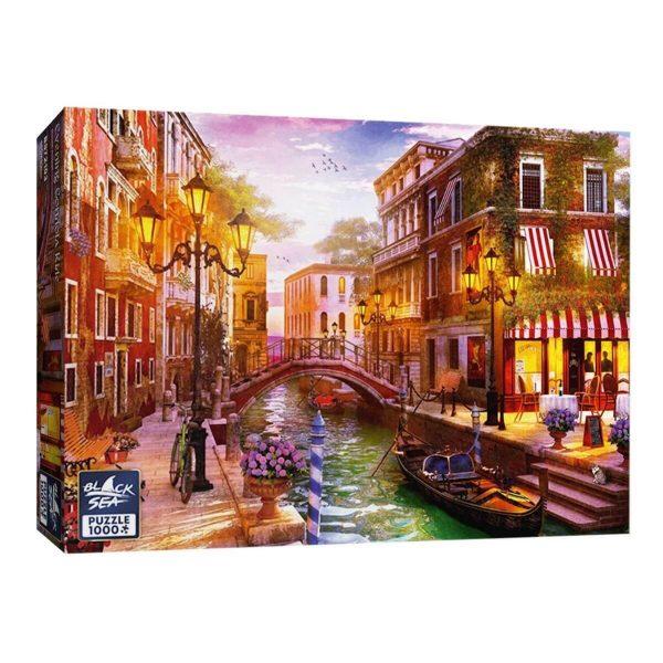Black Sea Puzzles - Вечерна разходка с гондола - Български пъзел - 1000 части - кутия