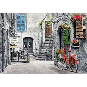 Castorland - Алея с червен велосипед - 500 части - картина