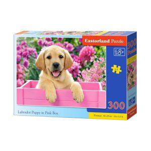 Castorland - Бебе лабрадор в розова кутия - 300 части - кутия