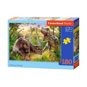 Castorland - Битка с динозаври - 180 части - кутия
