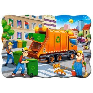 Castorland - Боклукчийски камион - 30 части - картина