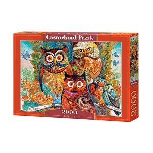 Castorland - Бухали - 2000 части - кутия