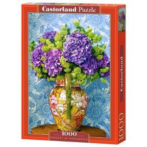 Castorland - Букет от хортензии - 1000 части - кутия