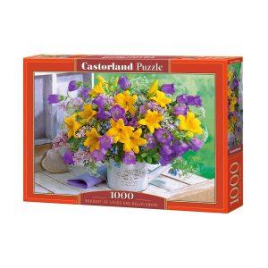 Castorland - Букет от лилии и камбанки - 1000 части - кутия