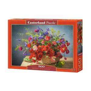 Castorland - Букет от макове - 500 части - кутия