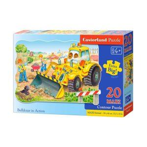 Castorland - Булдозер в действие - 20 XXL части - кутия