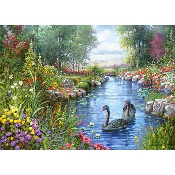 Castorland - Черни лебеди, Андрес Орпинас - 1500 части - картина