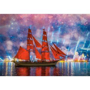 Castorland - Червена фрегата - 1000 части - картина