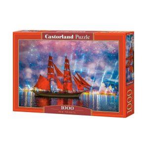 Castorland - Червена фрегата - 1000 части - кутия