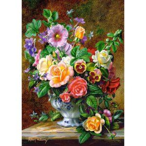 Castorland - Цветя във ваза - 500 части - картина