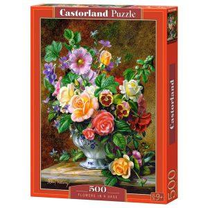 Castorland - Цветя във ваза - 500 части - кутия