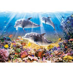 Castorland - Делфини под водата - 500 части - картина