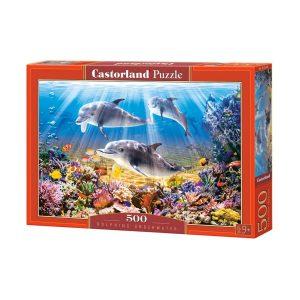 Castorland - Делфини под водата - 500 части - кутия