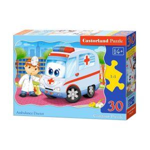 Castorland - Доктор с линейка - 30 части - кутия