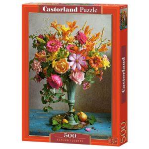 Castorland - Есенни цветя - 500 части - кутия